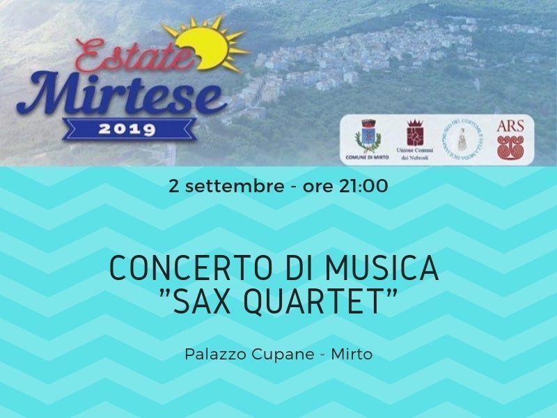 """02/09/2019 - """"Sax quartet"""" - h.21:00"""