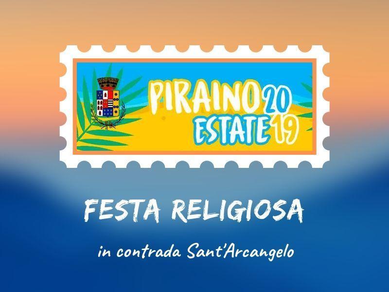 """29 settembre - Festa Religiosa in contrada """"Sant'Arcangelo"""""""