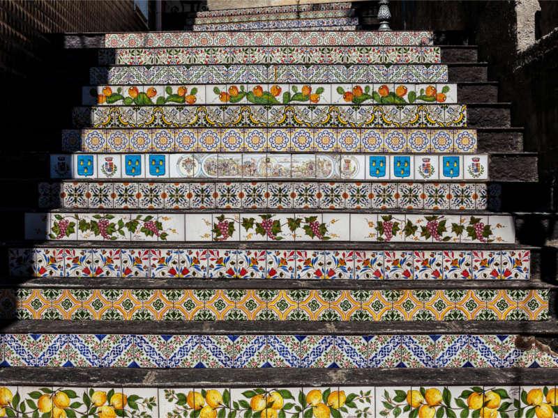 La scalinata di Piraino