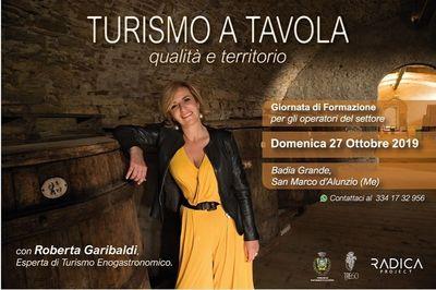 27/10/2019 - Turismo a tavola, formazione con Roberta Garibaldi - Cosa fare a San Marco d'Alunzio