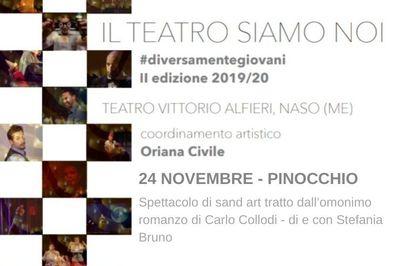 24/11/2019 - Pinocchio, spettacolo di sand artist - Il teatro siamo noi II edizione