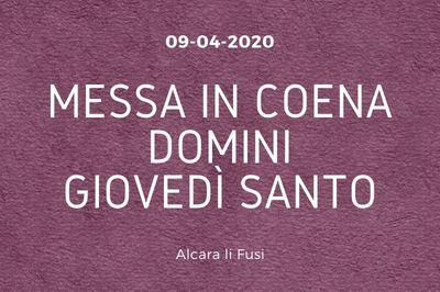 09/04/2020 - Giovedì Santo ad Alcara li Fusi - Settimana Santa 2020