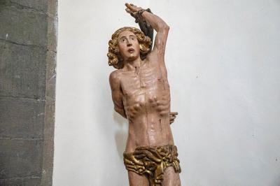 Statua lignea si San Sebastiano