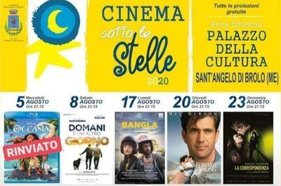 Cinema sotto le stelle 2020 a Sant'Angelo di Brolo