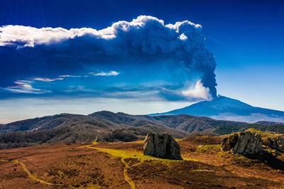 Argimusco - Eruzione Etna